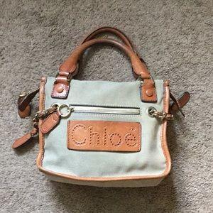 Chloe' Mini Canvas with Leather Trim Handbag